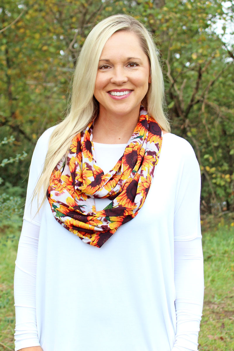 NGIL Sunflower Farm Infinity Scarf