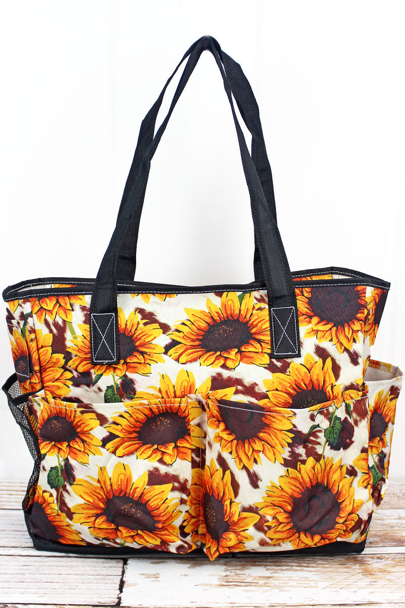 NGIL Sunflower Farm Large Organizer Tote