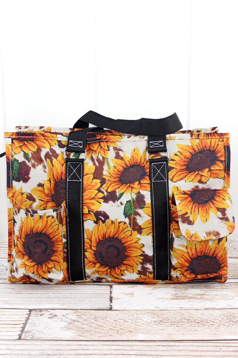 NGIL Sunflower Farm Utility Tote with Black Trim