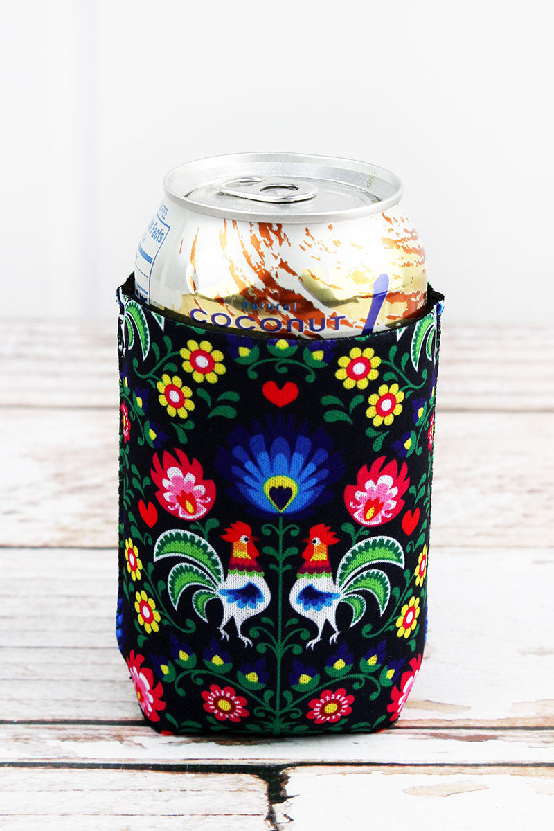 Floral Rooster Drink Sleeve