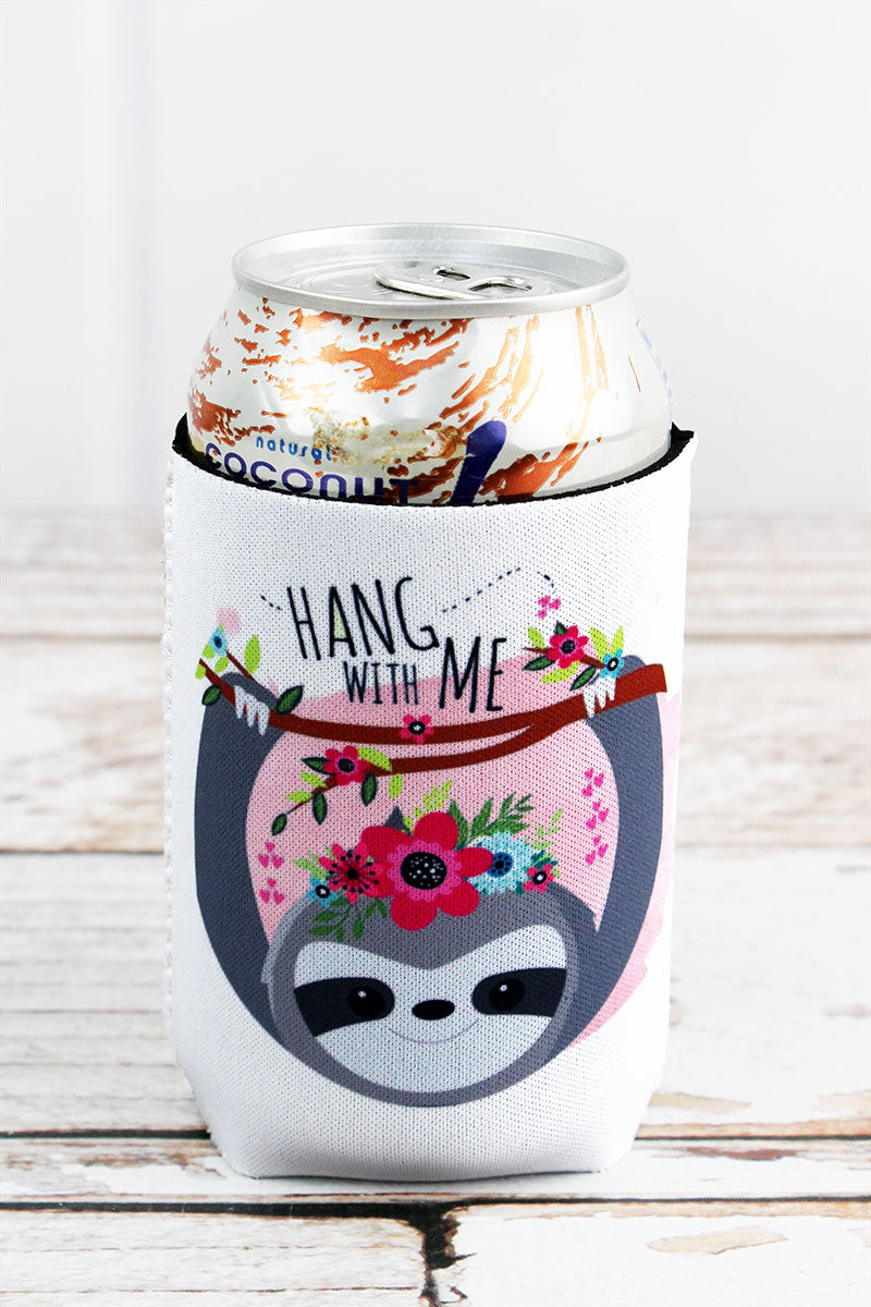 Hang With Me Sloth Drink Sleeve