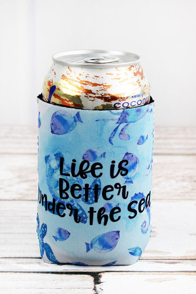 Blue Sea Life 'Life Is Better Under The Sea' Drink Sleeve