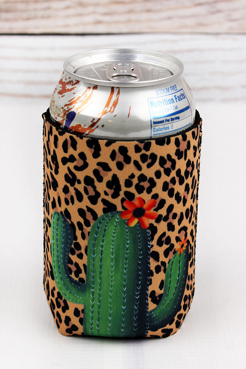 Cactus Leopard Drink Sleeve