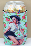 Cowgirl Pinup Bouquet Drink Sleeve