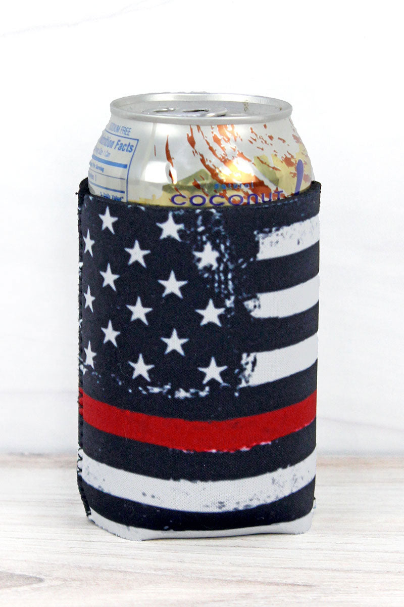 Thin Red Line Flag Drink Sleeve