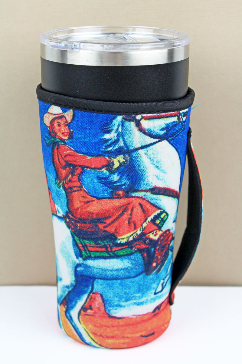 Giddy Up Cowgirl Tumbler Drink Sleeve