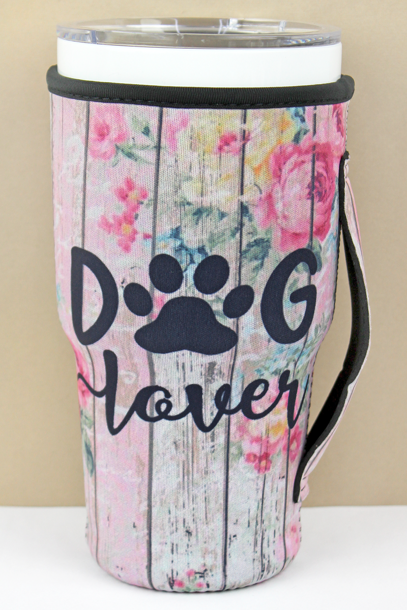 Dog Lover Tumbler Drink Sleeve