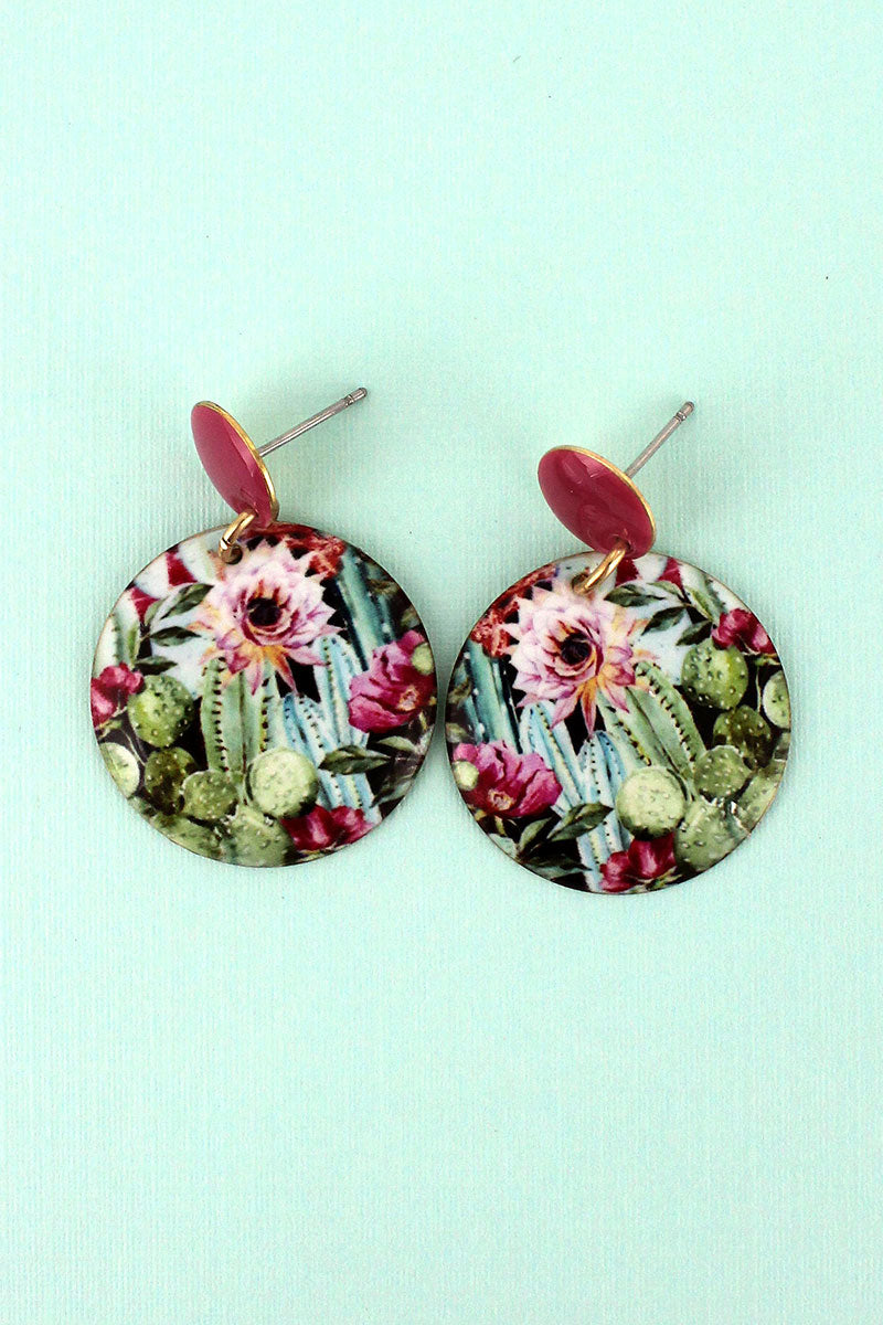 Desert Garden Disk Earrings