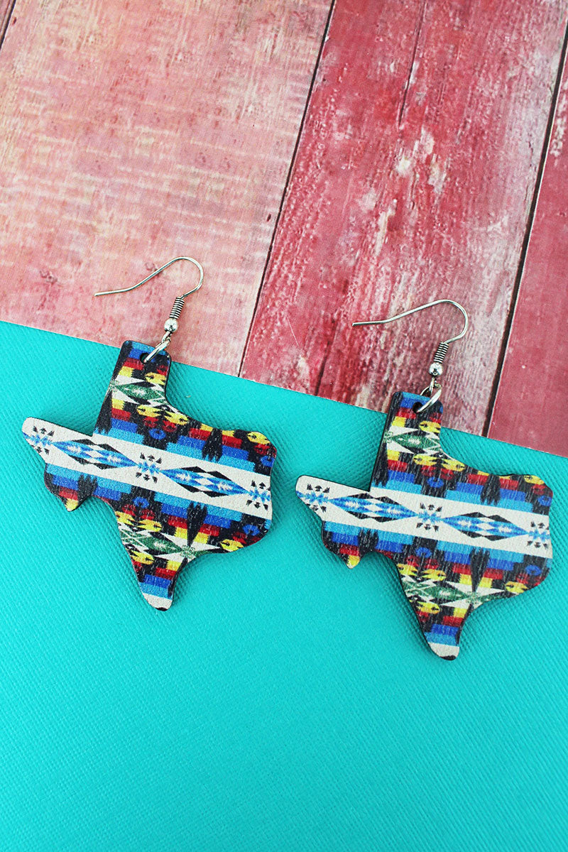 Sierra Sky Texas Wood Earrings