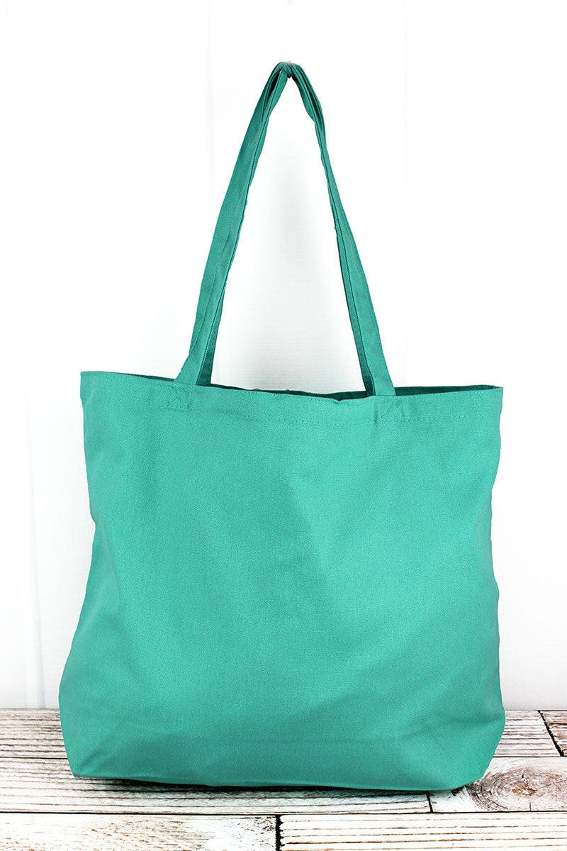 Liberty Bags Sea Glass Green Large Canvas Tote