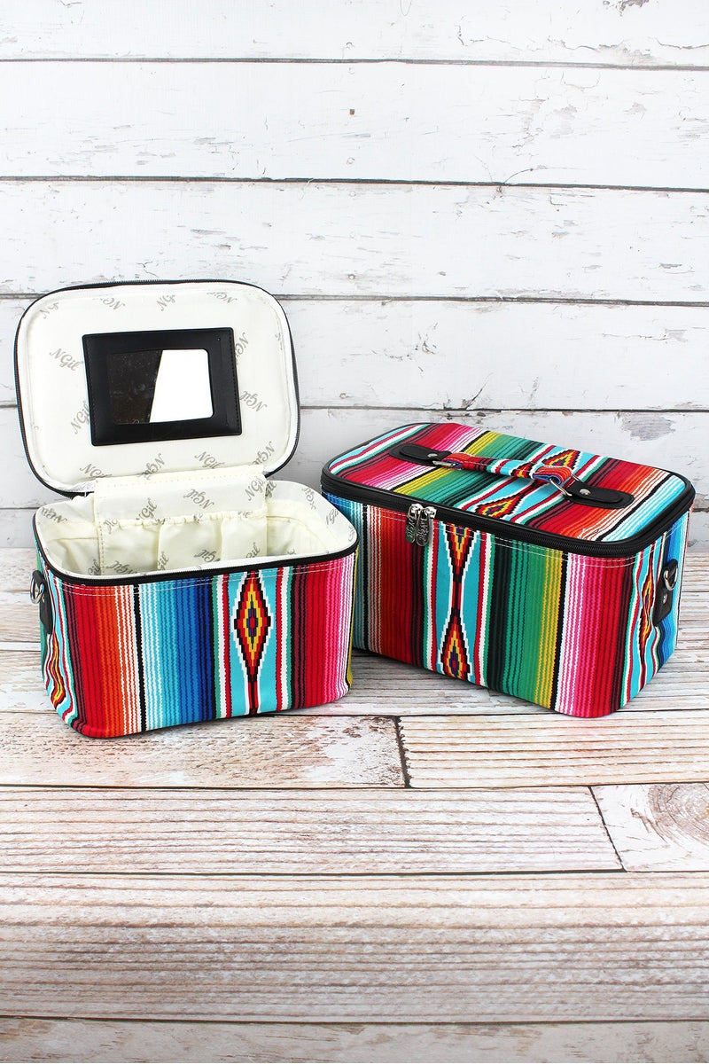NGIL Southwest Serape 2 Piece Cosmetic Case Set
