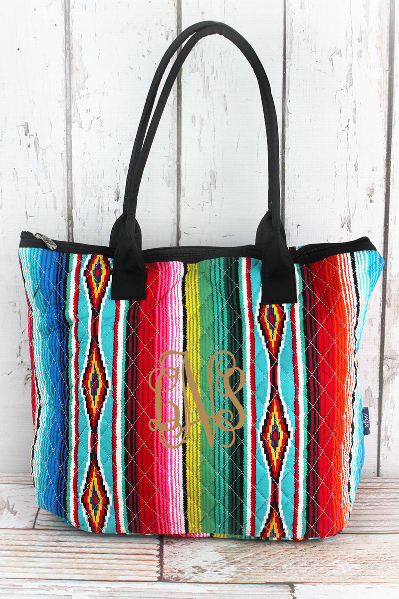 NGIL Southwest Serape Quilted Shoulder Bag