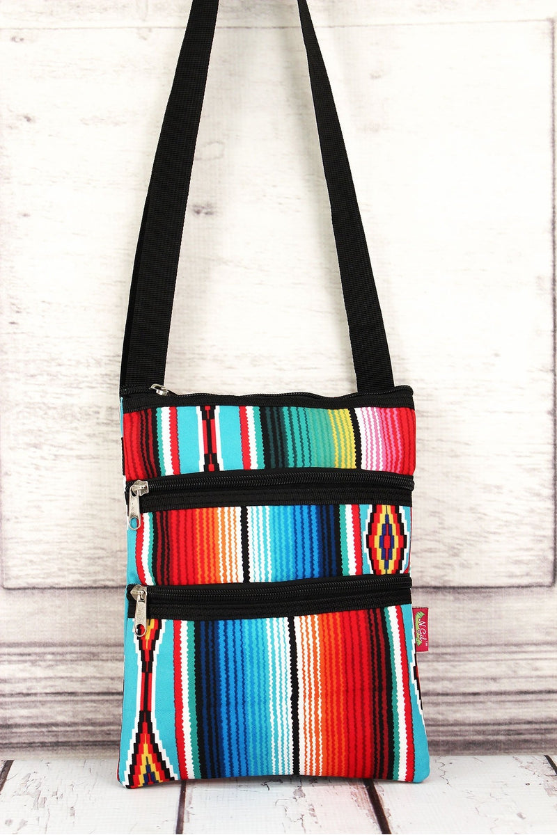NGIL Southwest Serape Crossbody Bag with Black Trim