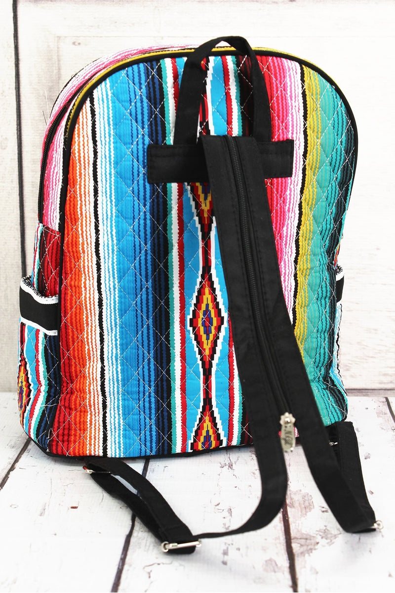 NGIL Southwest Serape Quilted Backpack with Black Trim