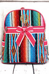 NGIL Southwest Serape Quilted Backpack with Hot Pink Trim