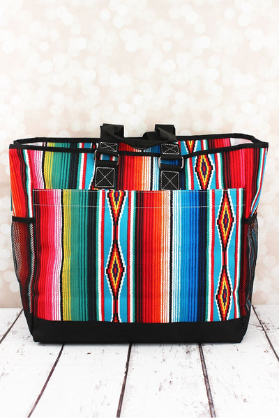 NGIL Southwest Serape Everyday Organizer Tote with Black Trim
