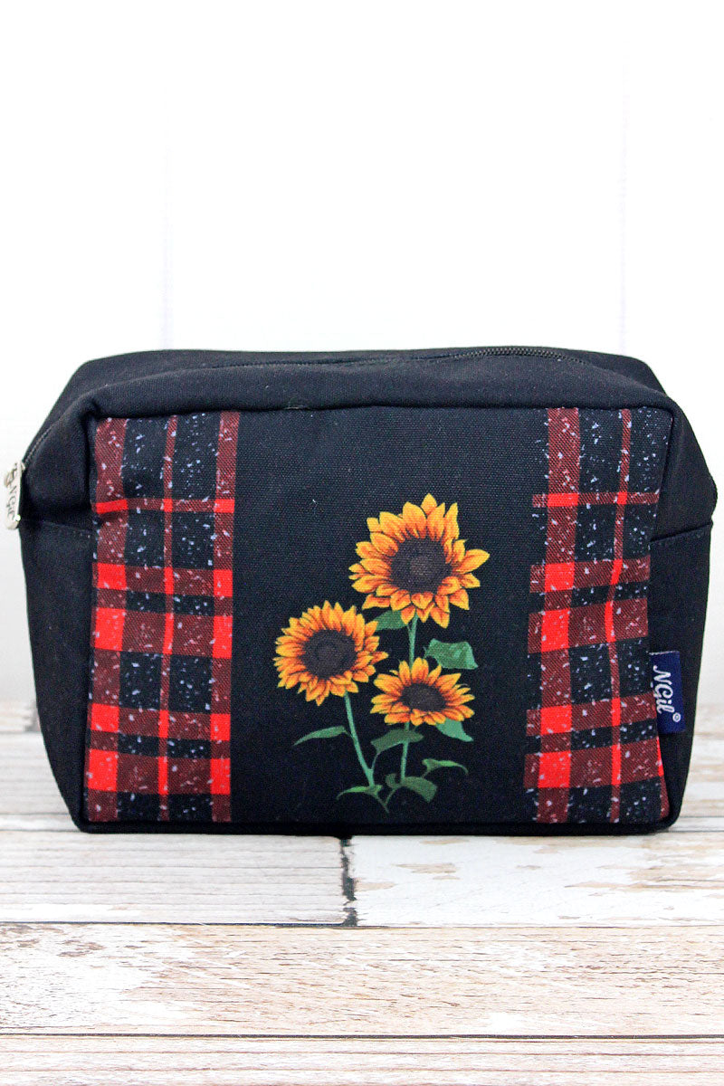 NGIL Red Rustic Sunflower Cosmetic Case