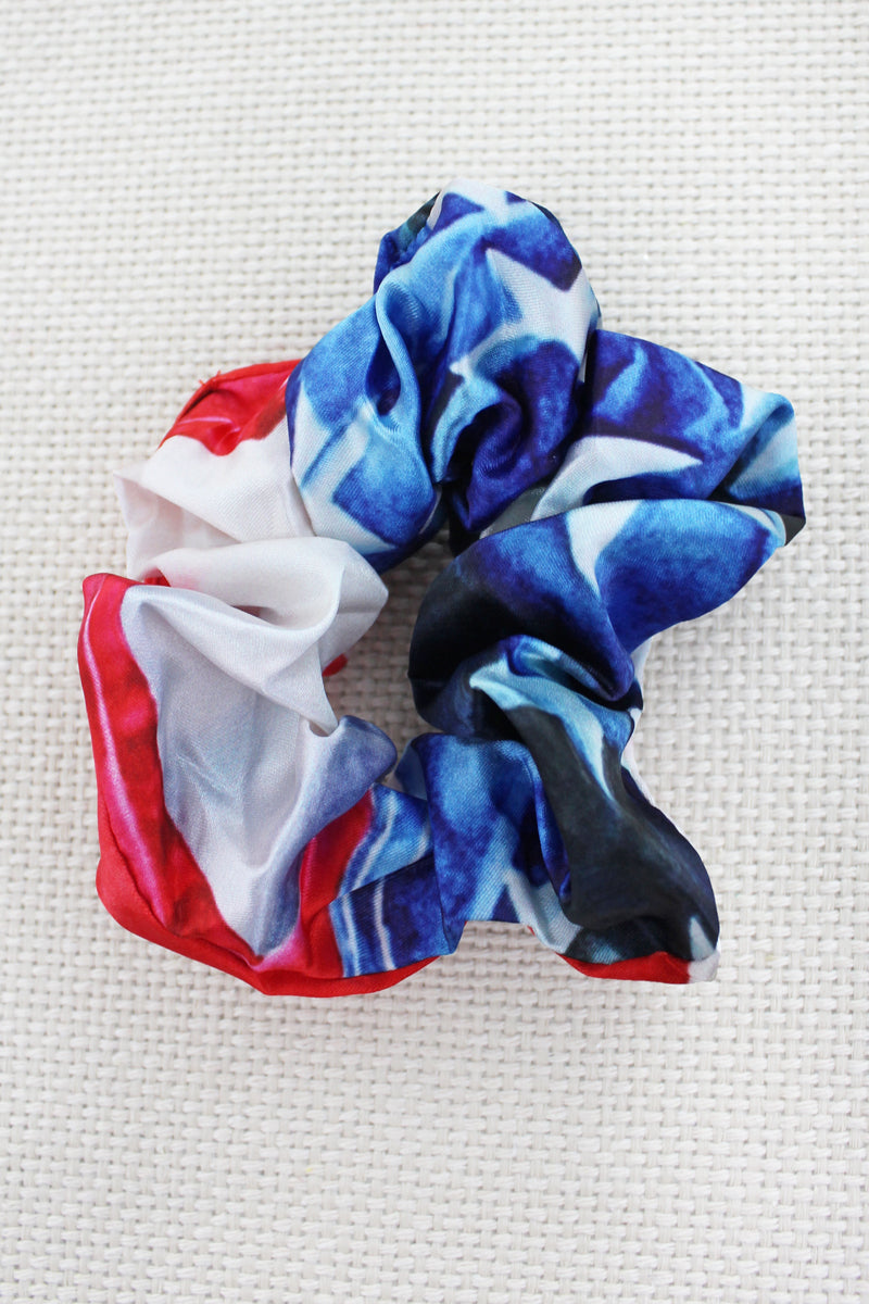 American Flag Scrunchie