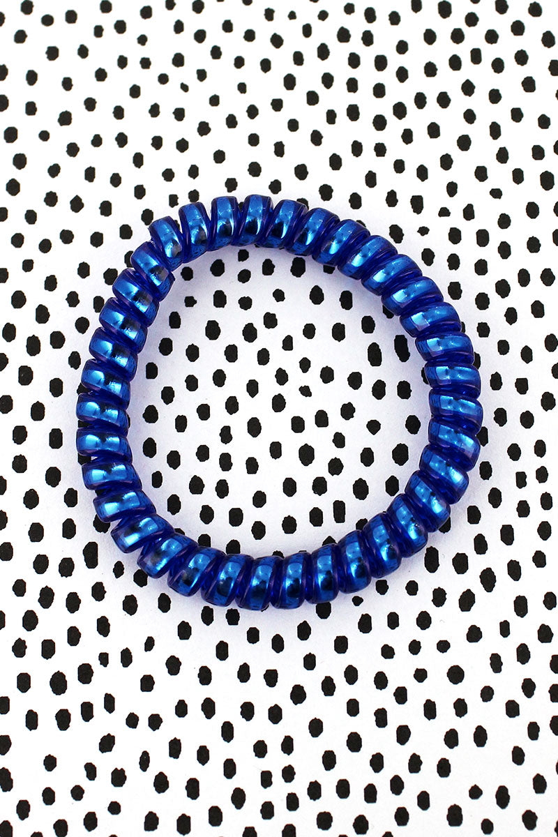 Royal Shiny TeleCord Bracelet/Hair Tie