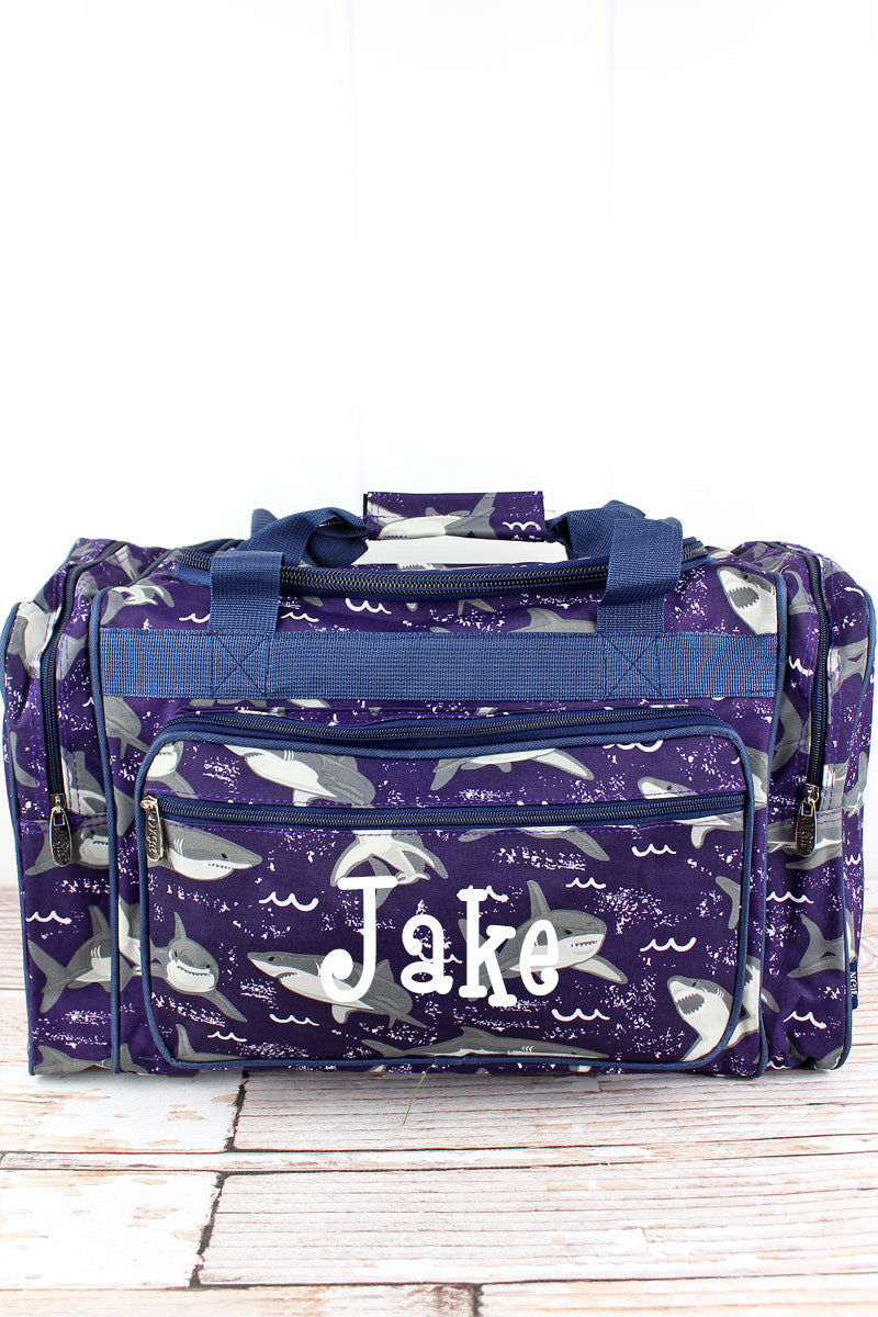 NGIL Fintastic Sharks Duffle Bag 20""