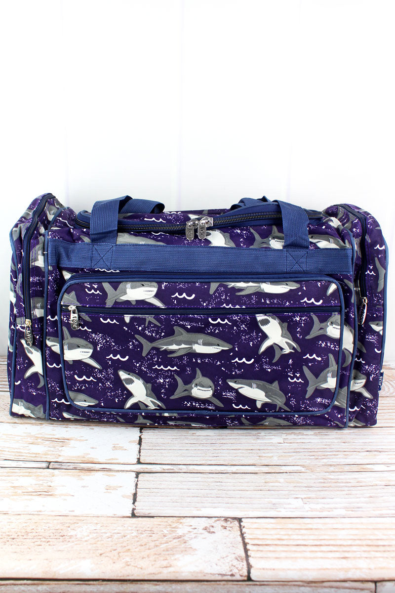NGIL Fintastic Sharks Duffle Bag 23""