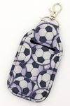 Soccer Hand Sanitizer Holder Keychain