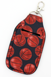 Basketball Hand Sanitizer Holder Keychain