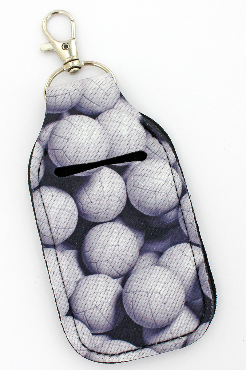 Volleyball Hand Sanitizer Holder Keychain