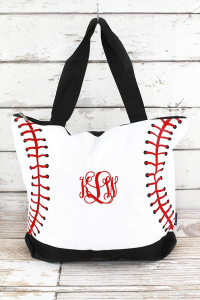 NGIL Baseball Laces with Black Trim Tote Bag