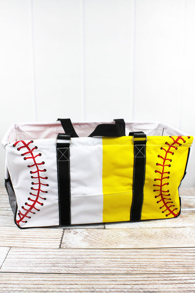 NGIL Split Baseball & Softball Laces Collapsible Haul-It-All Basket with Mesh Pockets