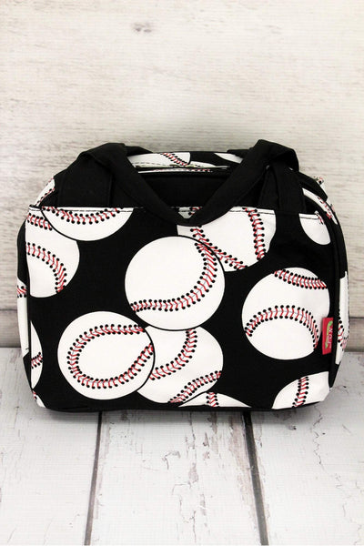 NGIL Baseball Insulated Bowler Style Lunch Bag