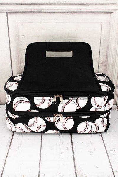 NGIL Baseball with Black Trim Insulated Double Casserole Tote