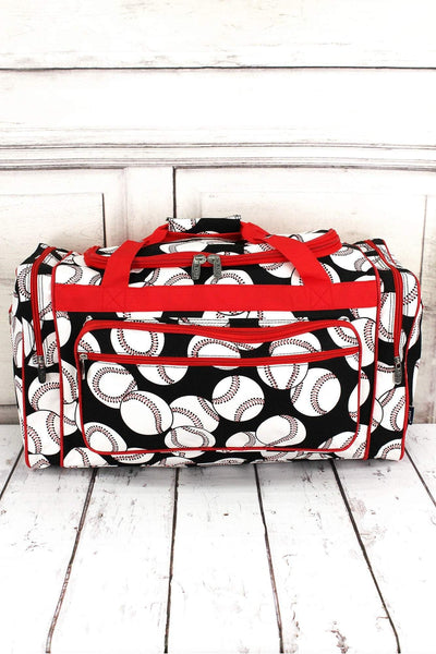 NGIL Baseball Duffle Bag with Red Trim 23""