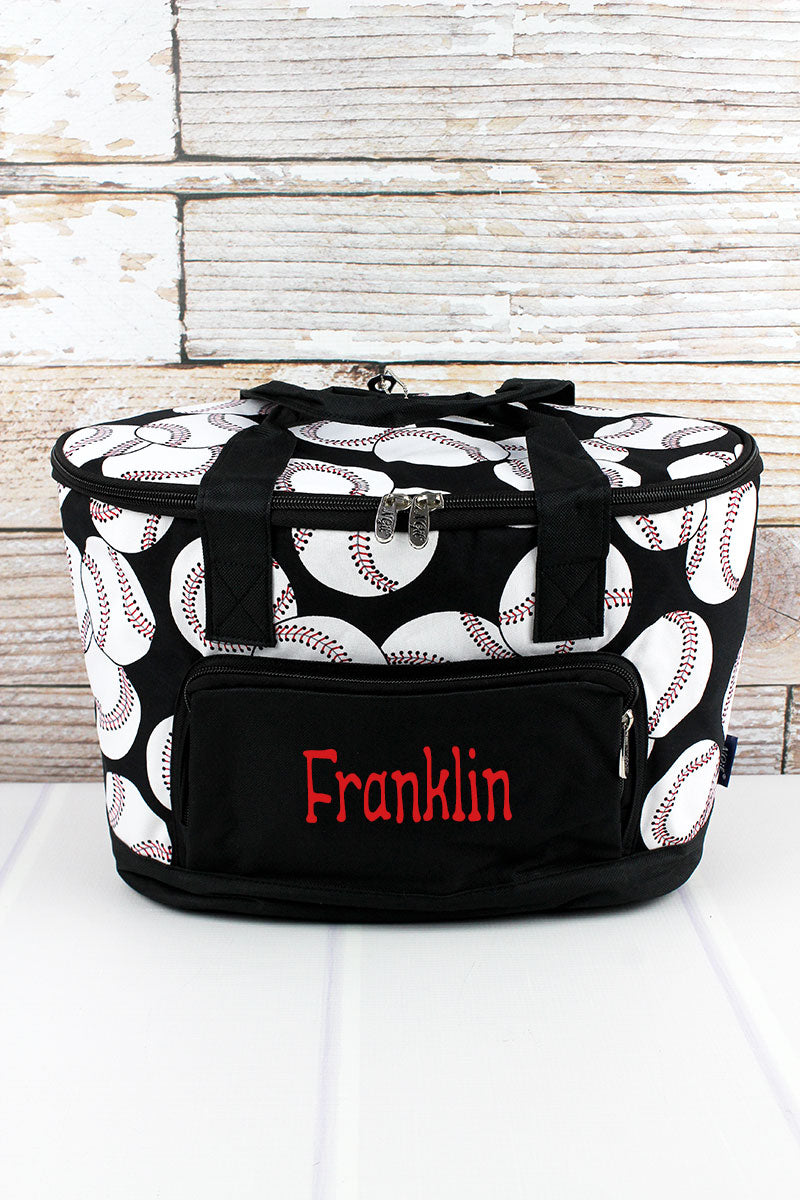NGIL Baseball and Black Mini Cooler Tote with Lid