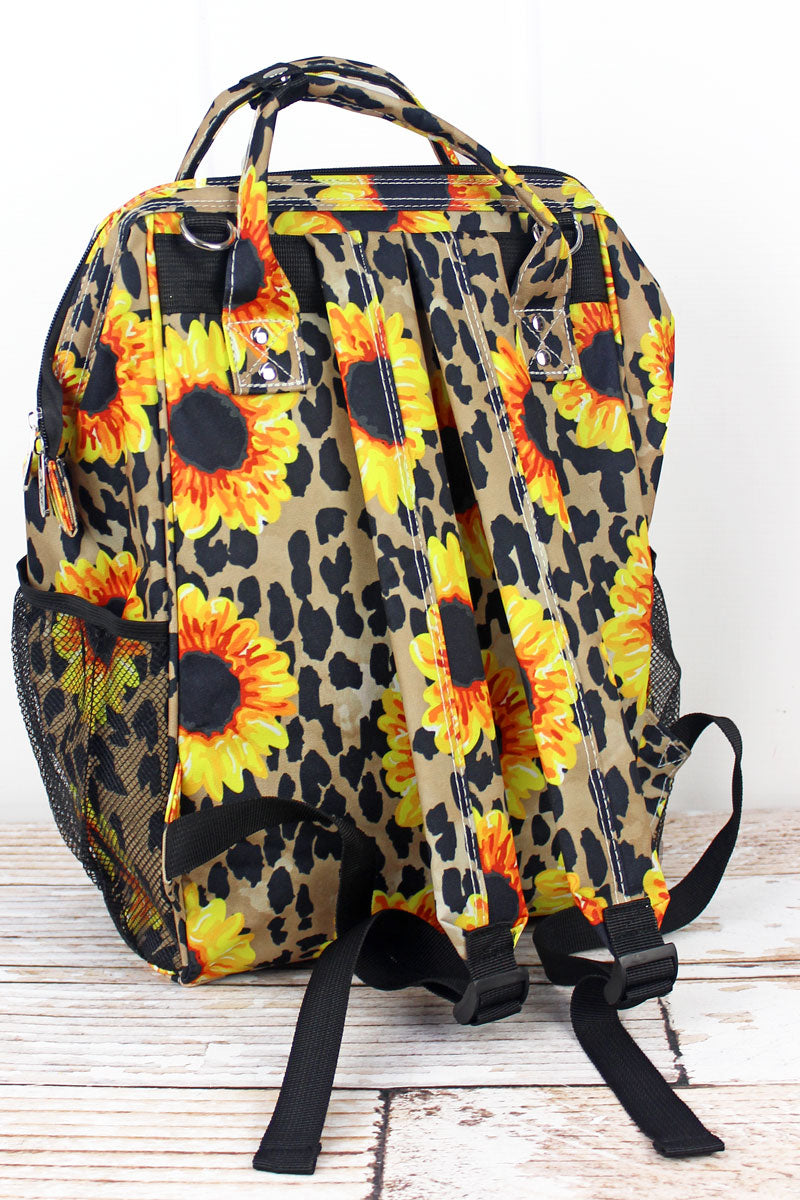 NGIL Sunflower Leopard Casual Backpack