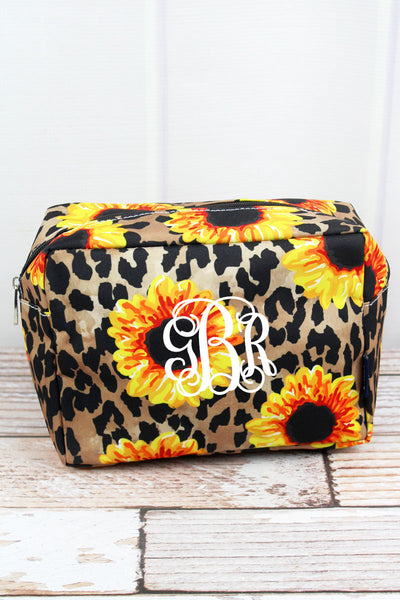 NGIL Sunflower Leopard Cosmetic Case