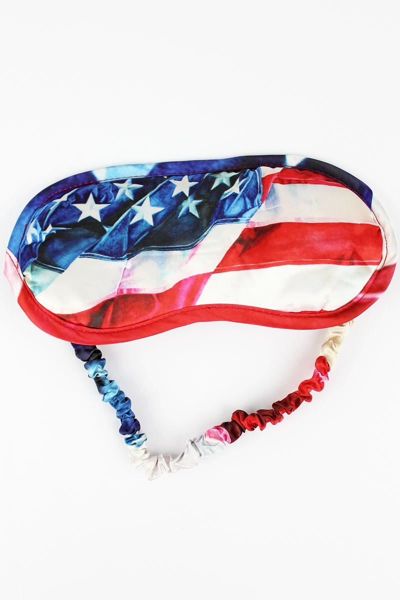 American Flag Satin Sleep Mask