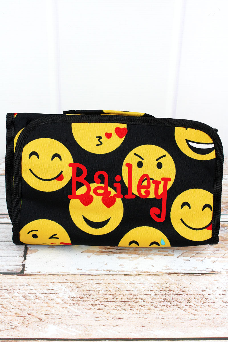 SALE! NGIL Emoji Roll Up Cosmetic Bag