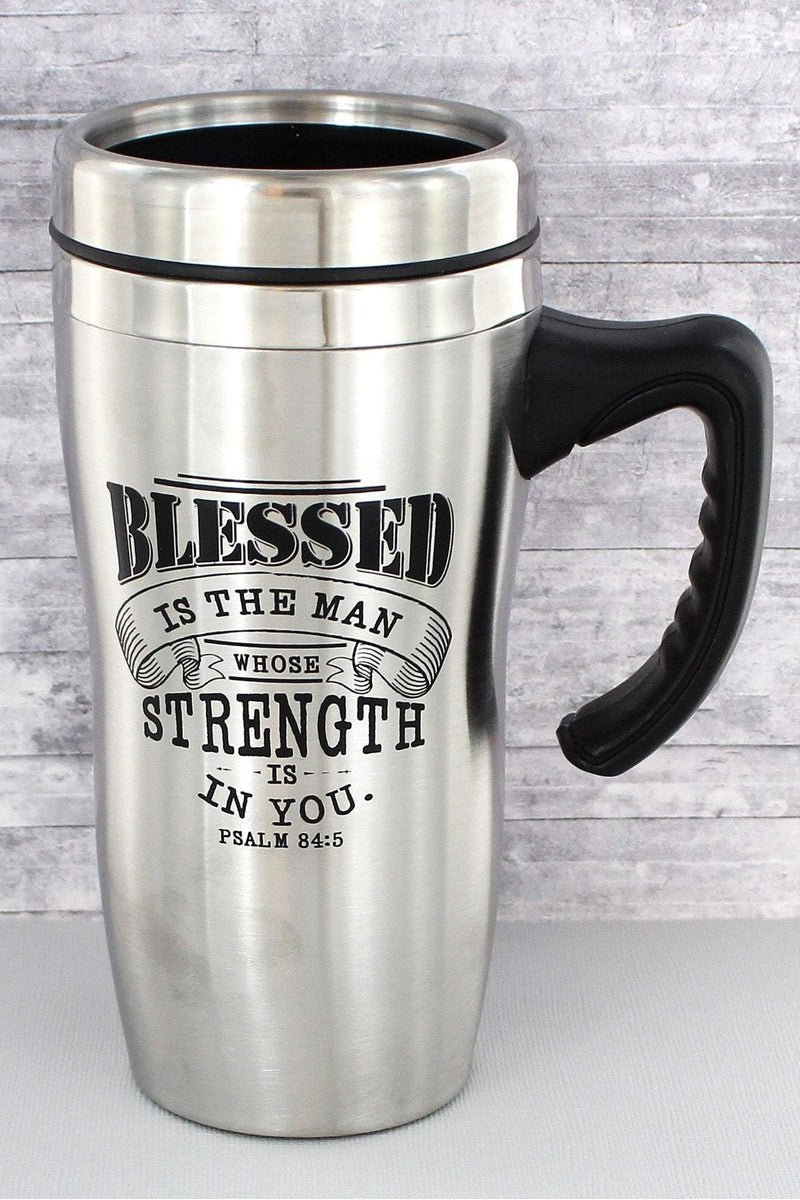 Psalm 84:5 'Blessed' Stainless Steel Travel Mug