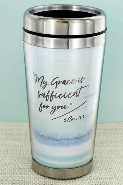 2 Corinthians 12:9 'My Grace is Sufficient' Travel Mug