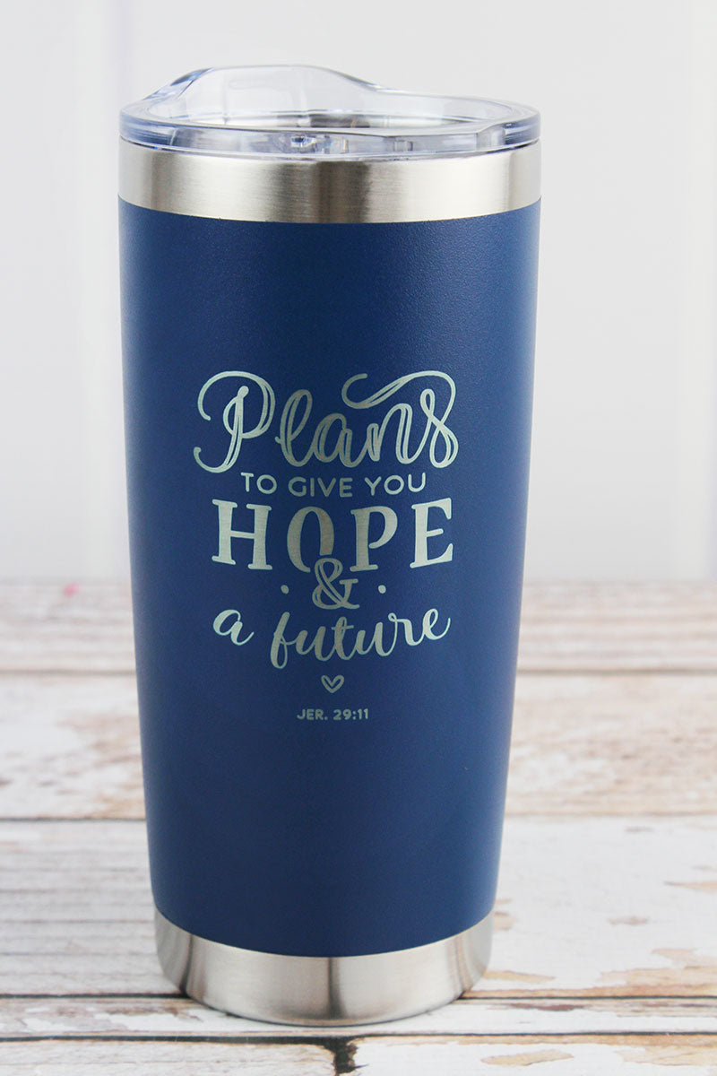 Jeremiah 29:11 'Hope & A Future' Stainless Steel Travel Mug