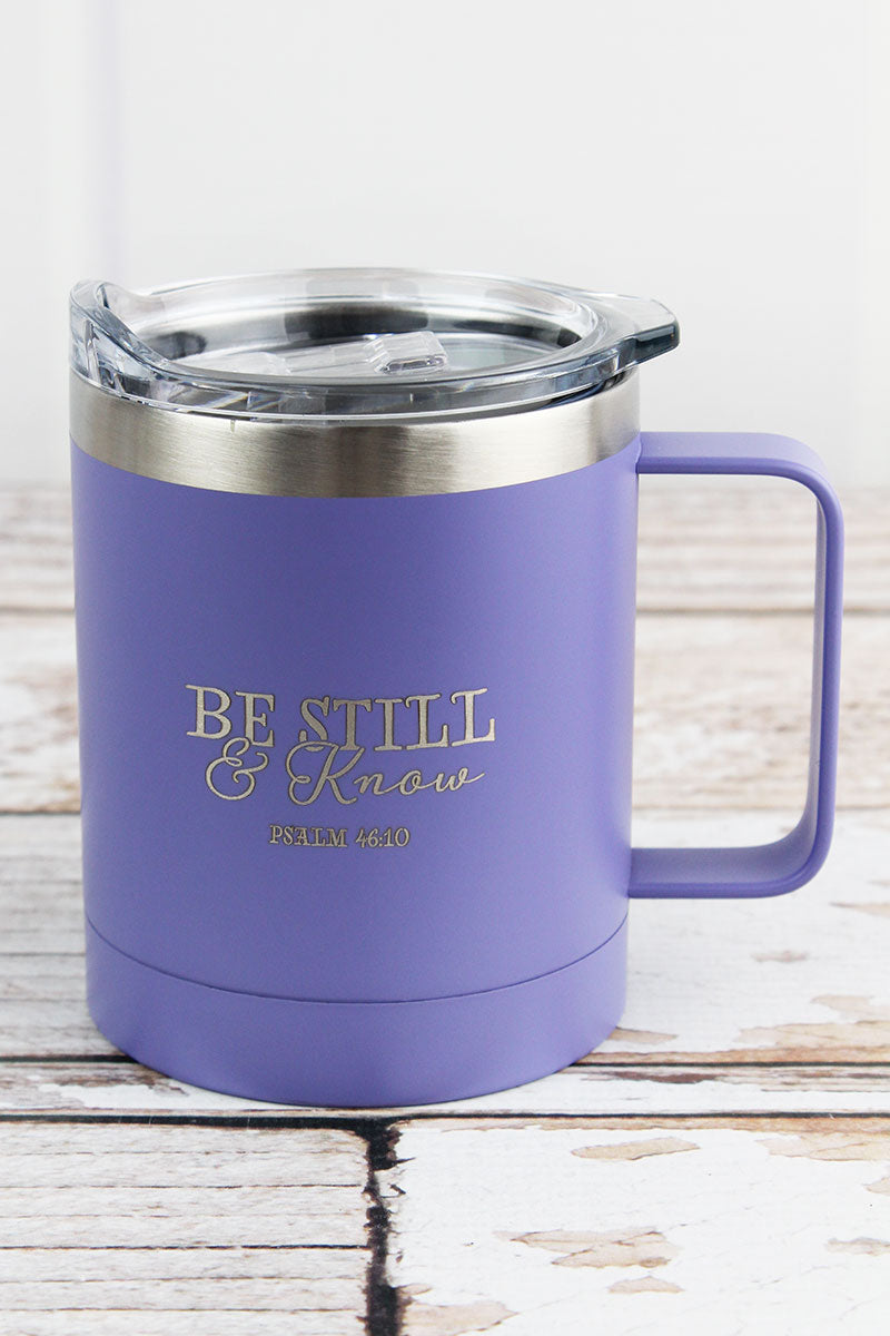 Psalm 46:10 'Be Still & Know' Stainless Steel Travel Campfire Mug