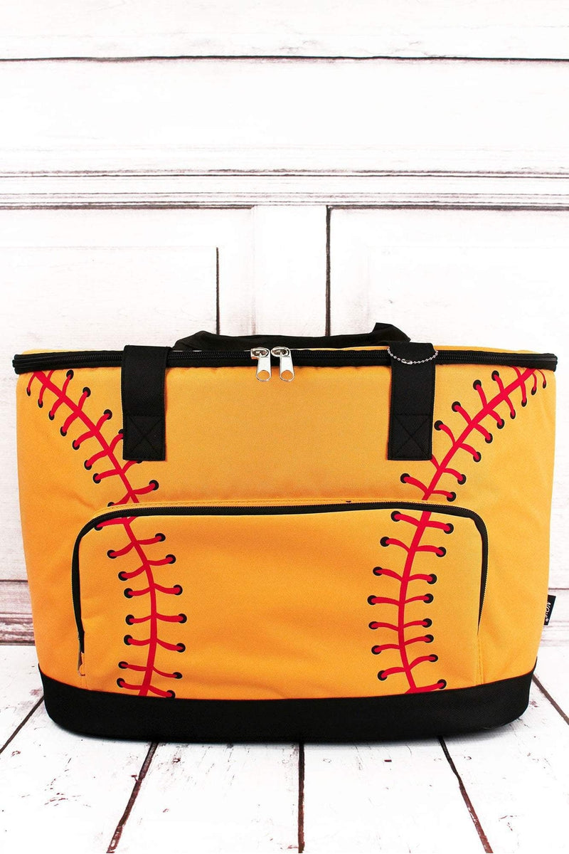 NGIL Softball Laces and Black Cooler Tote with Lid