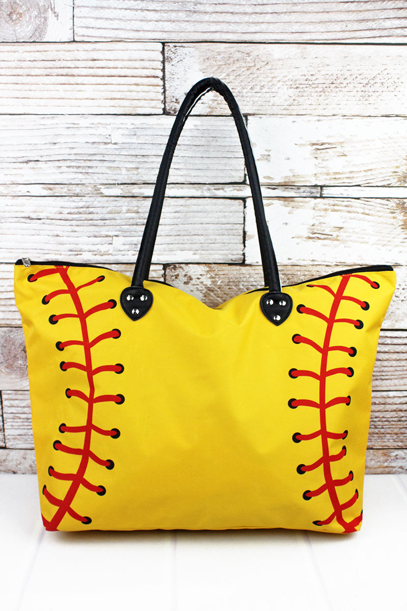 NGIL Softball Laces Large Shoulder Tote