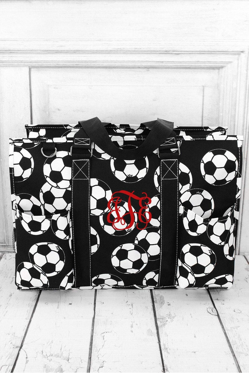 NGIL Soccer with Black Trim Large Organizer Tote
