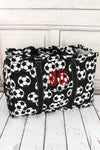 Soccer Collapsible Double Haul-It-All Basket with Mesh Pockets and Lid #SOC809-BLACK