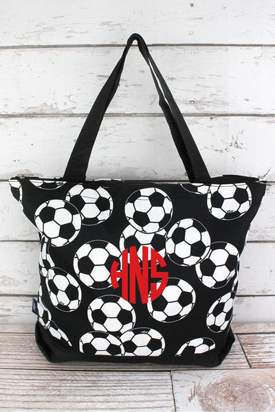 NGIL Soccer with Black Trim Tote Bag