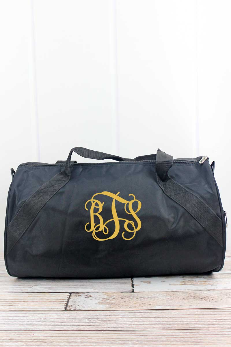 NGIL Embroidered Softball Black Barrel Duffle Bag 18""