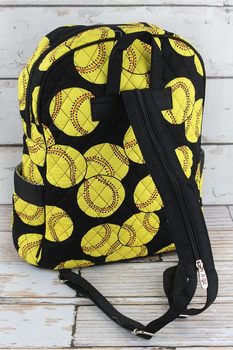 NGIL Softball Quilted Backpack with Black Trim