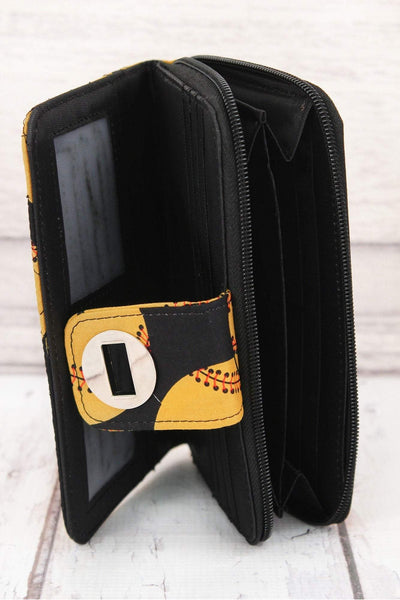Softball Quilted Organizer Clutch Wallet #SOF517-BLACK